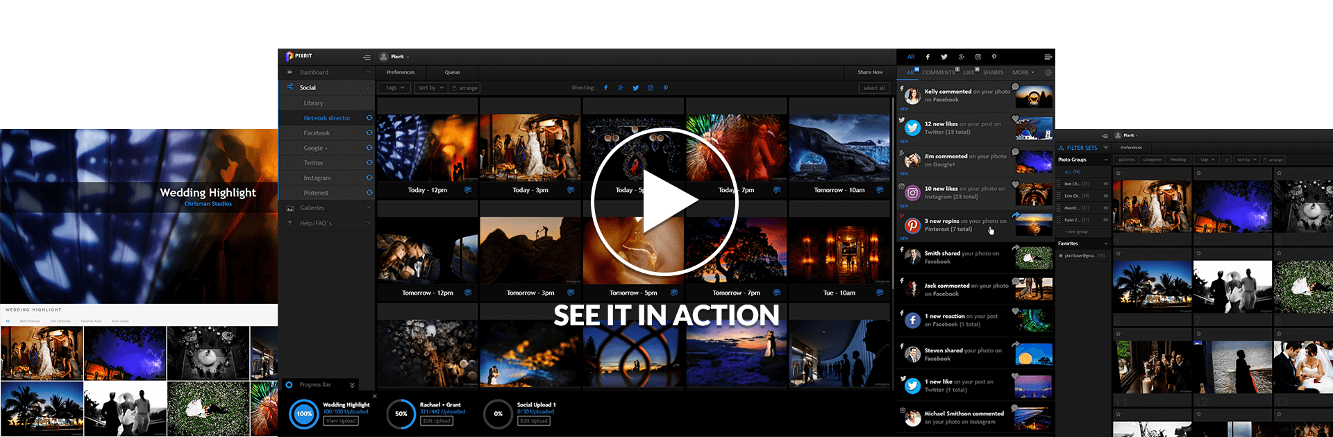 pixrit the ultimate social media manager and client gallery platform for photographers 1 week of sharing 30 seconds video