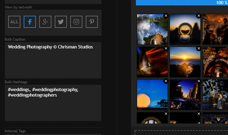 pixrit the ultimate social media manager and client gallery platform for photographers bulk captions hashtags