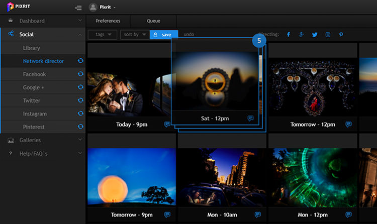 pixrit the ultimate social media manager and client gallery platform for photographers drag + drop