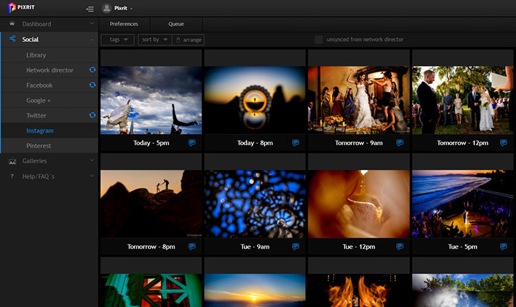 pixrit the ultimate social media manager and client gallery platform for photographers independent scheduling