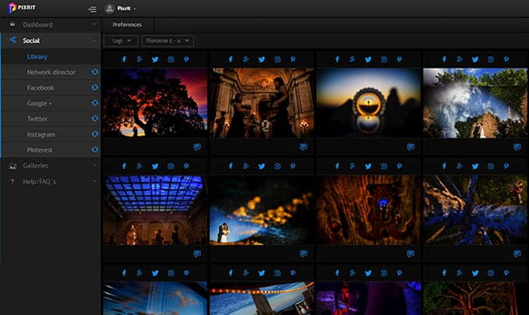 pixrit the ultimate social media manager and client gallery platform for photographers social library