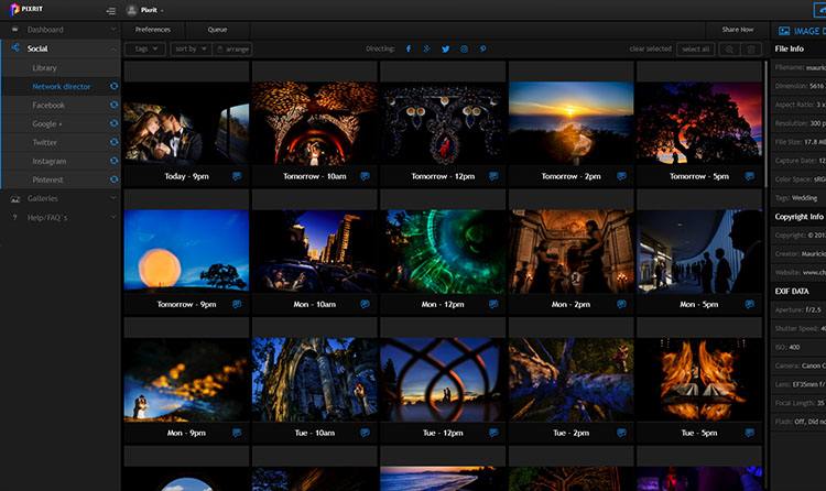 pixrit the ultimate social media manager and client gallery platform for photographers visually driven interface