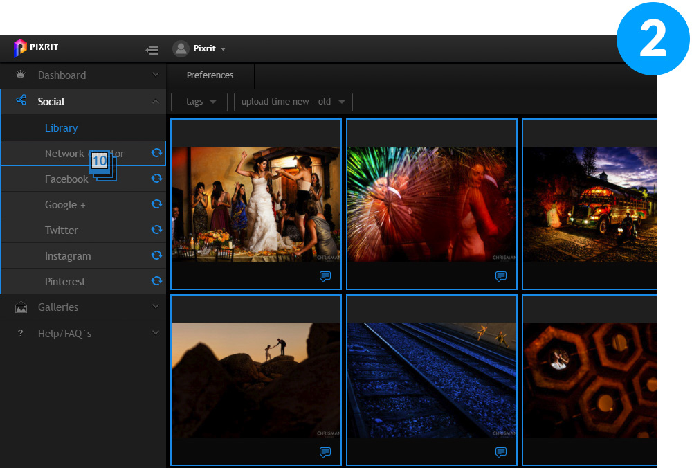 pixrit the ultimate social media manager - social media scheduler for photographers and visual artists