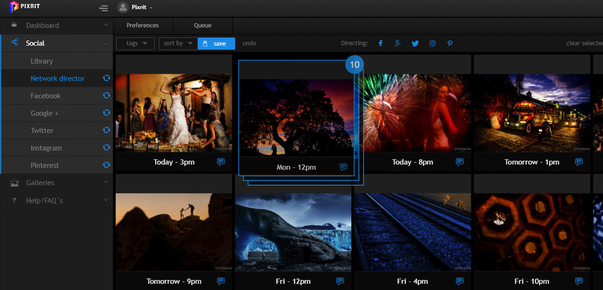 quickstart guide to pixrit the ultimate social media manager for photographers - arrange