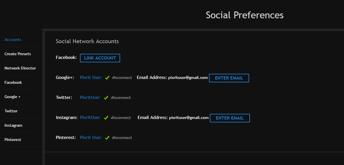 quickstart guide to pixrit the ultimate social media manager for photographers - connecting accounts